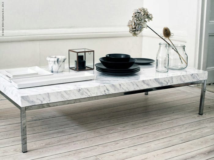 Chic Ikea Hacks - Too good to be true! Marble-ize your coffee table with some marble contact paper