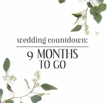 Join me on my wedding countdown as I plan and prepare for my big day