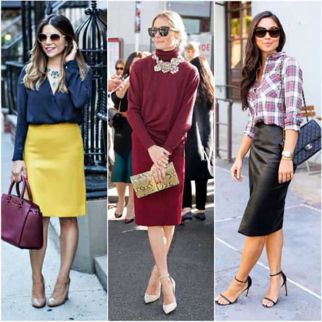 How to wear a pencil skirt for fall!