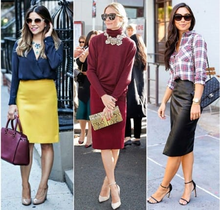 how to wear a pencil skirt in Fall