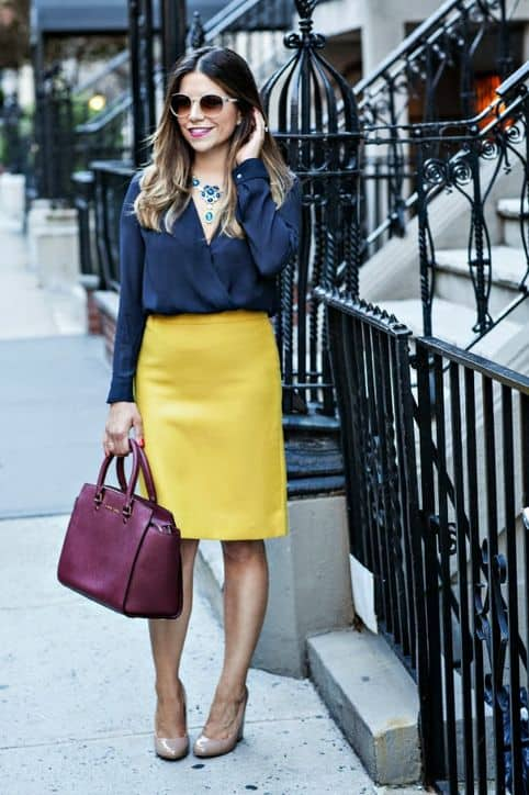 Just because it's fall doesn't mean you can't wear bright colors. Read on for more fall style inspiration...