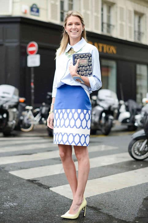 A fun print pencil skirt is the perfect conversation starter. Read on to see more great work wear style ideas.