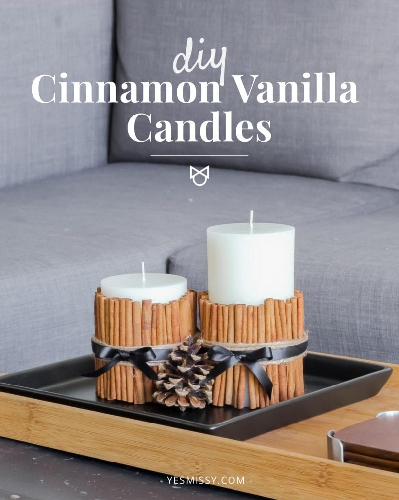 Make this DIY cinnamon vanilla candle that will cozy up your home with a warm scent!