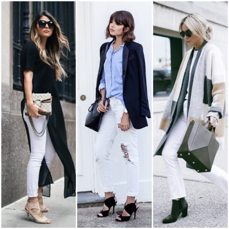 Wearing white jeans might not be as difficult to pull off as you might think! White jeans are crisp and flattering, and a great staple to brighten up any outfit.
