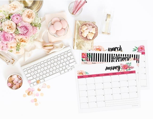 Stylish Printable Calendars - FREE