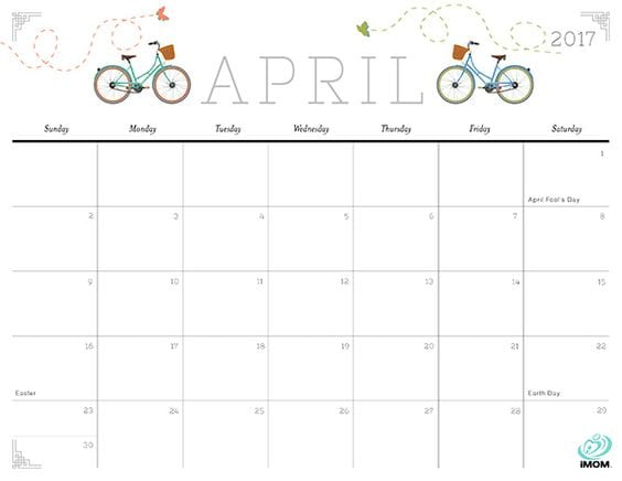 Cute and Crafty Free Printable Calendar - imom