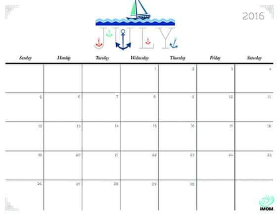 picture about Imom Printable Calendar titled 25 Cost-free Printable Calendars