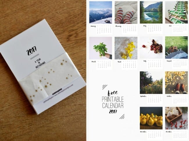 Printable Instagram Calendar - Nadel and Gabel