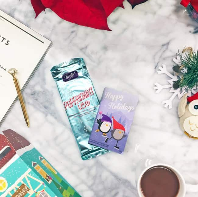 Purdys Chocolates - peppermint bar and happy holiday bar
