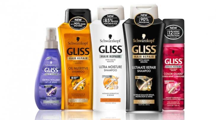 The GLISS hair repair line