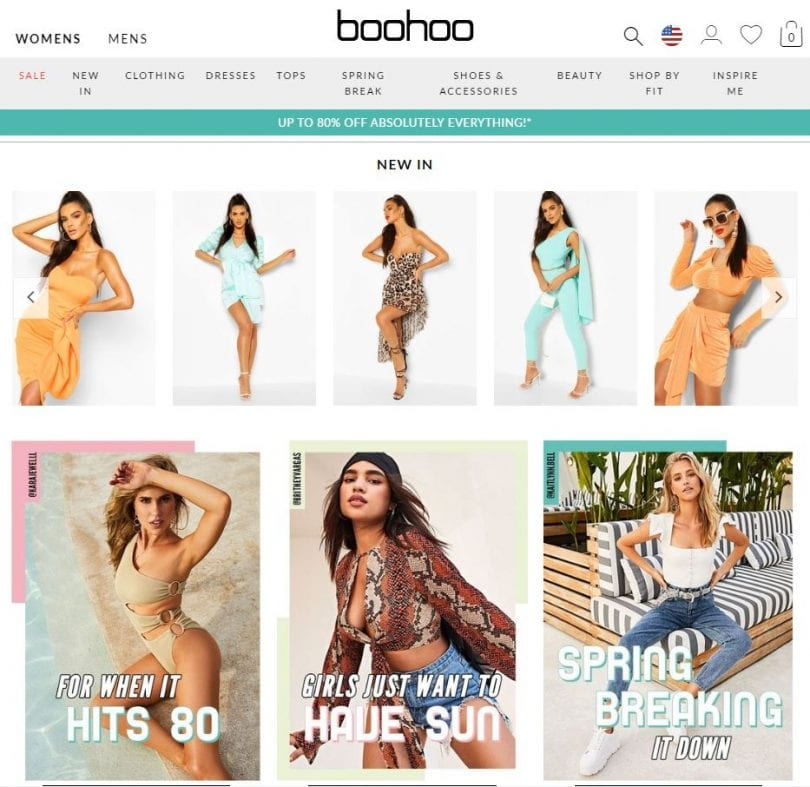 BOOHOO.com is one of the best fast-fashion websites that sell trendy clothing with new styles added daily