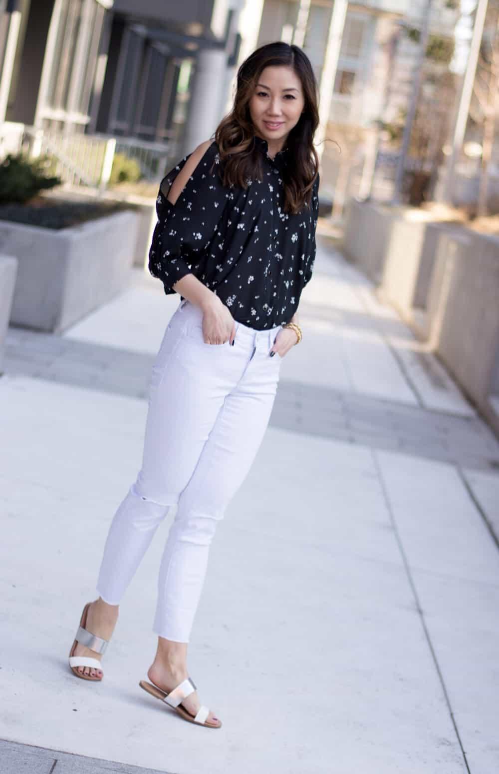 Summery look from LC Lauren Conrad line