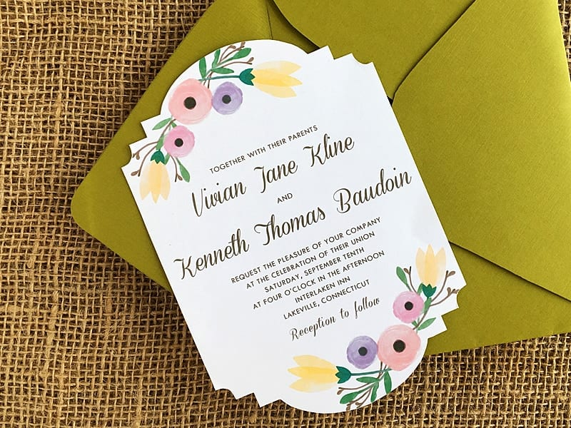 FREE DIY Watercolor Wedding Invitation Template