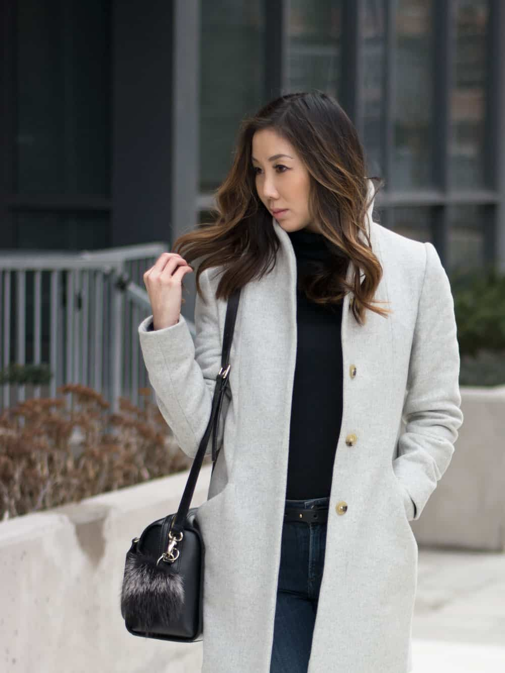 Blogger style - love this grey cocoon coat