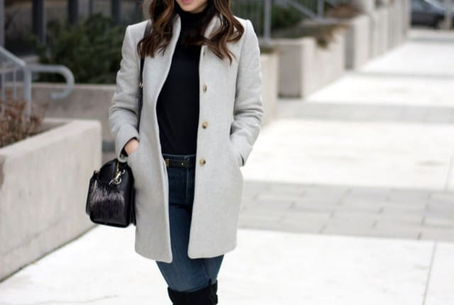 Fashion Blogger style - love this grey cocoon coat