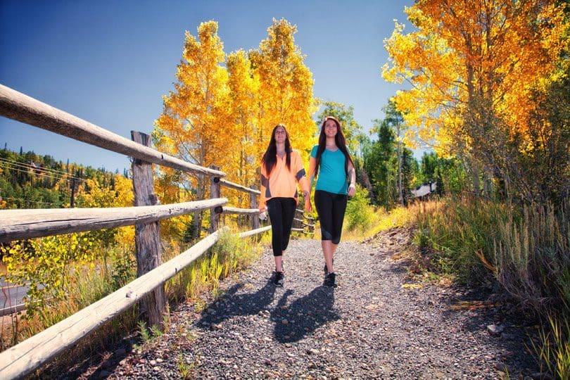 Hiking ont the trails of Brianhead near Cedar City, Utah