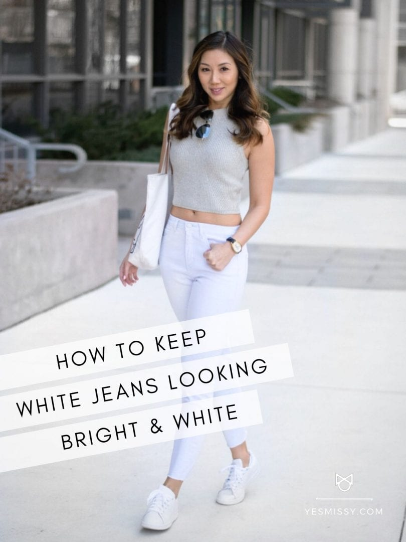 How to wash white jeans - tips and tricks on keeping your denim white and bright