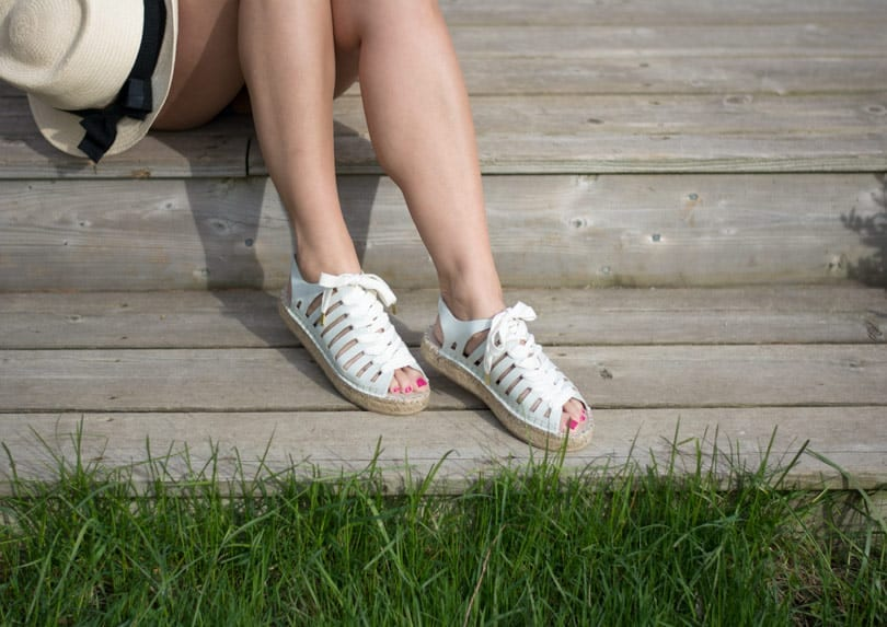 Lace up espadrilles. These ones are SO comfy!