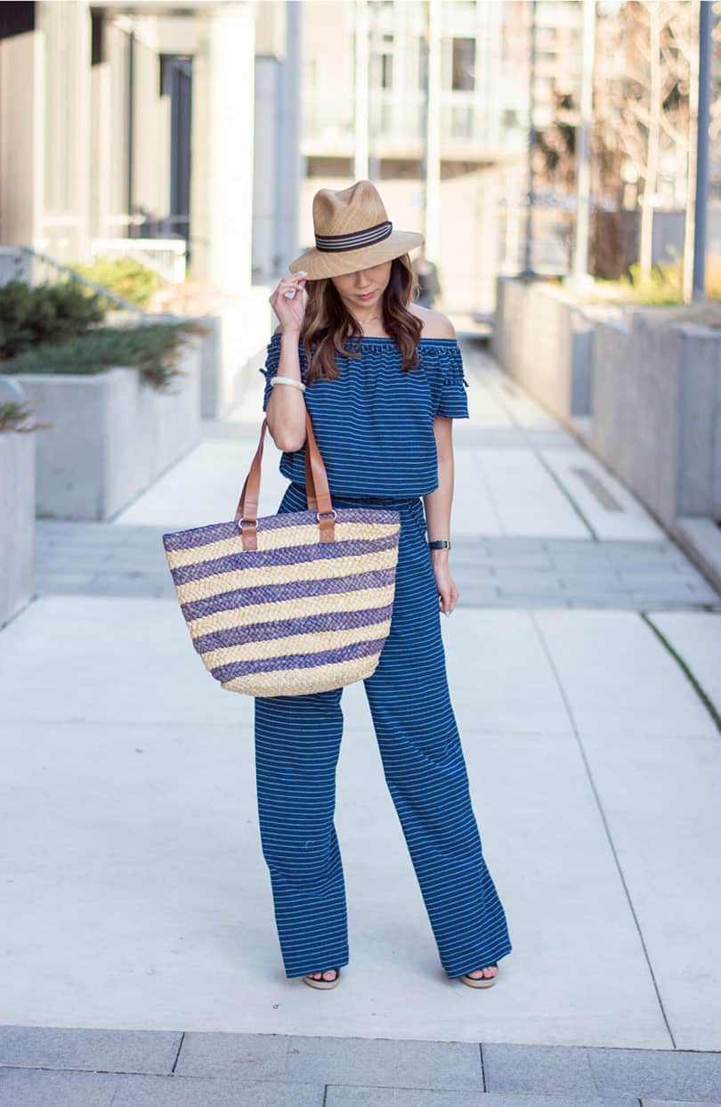 Summer Streetstyle OOTD: Striped jumpsuit