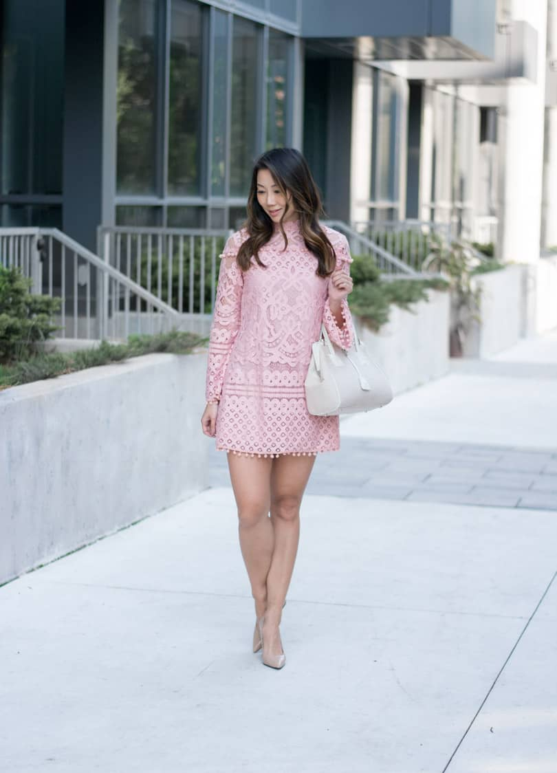This is the perfect little dress!! Love this pink pompom lace dress. Can you believe it was only $24? Obsessed!!