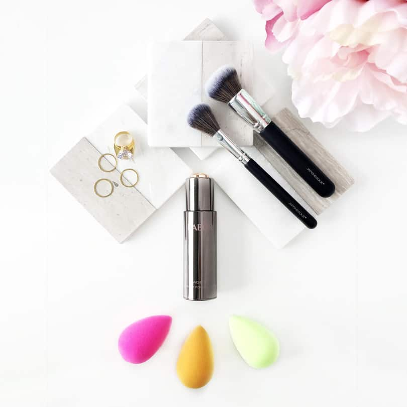 Make up review for Babor AGEID serum foundation, Japonesque brushes and Beautyblender