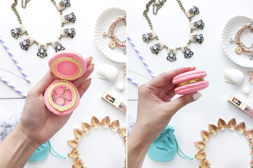 How cute is the macaron case!? Hacks for travelling with jewelry, so you can travel in style!