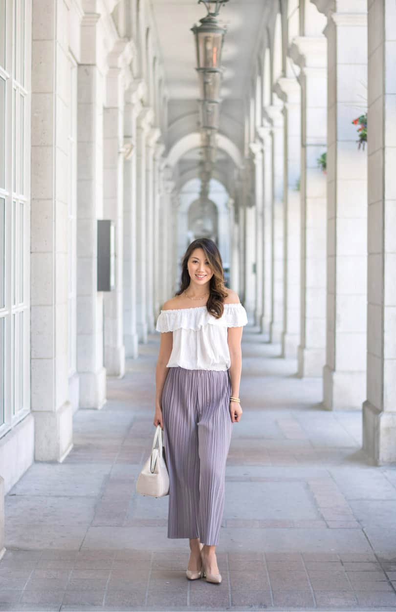 Summer streetstyle - culottes from Romwe and top from Zara