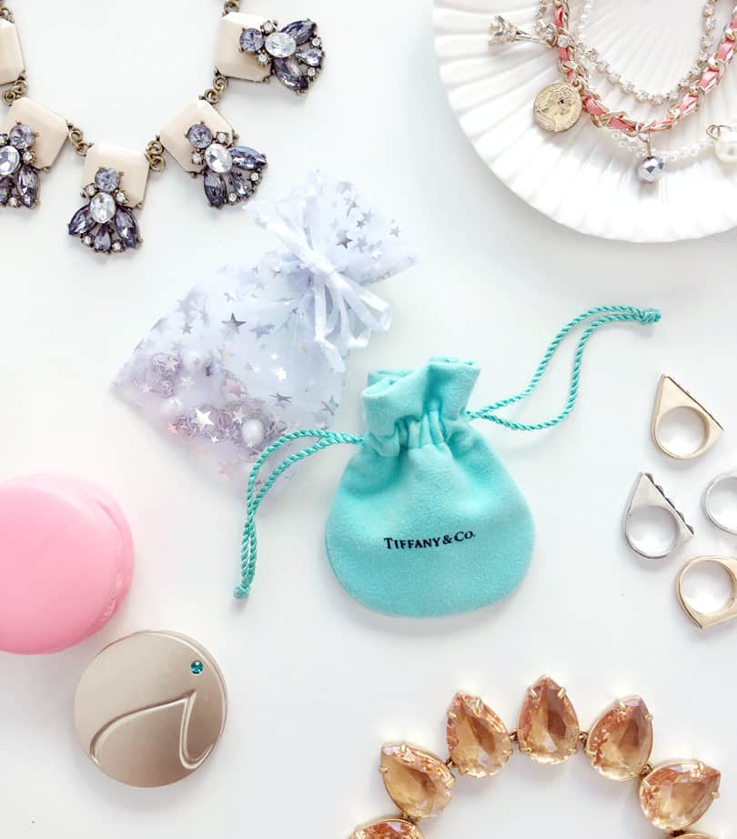 Jewelry pouches are an easy way to carry jewelry while travelling...