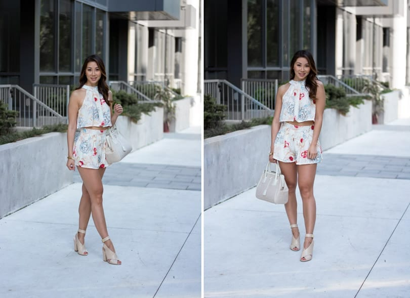 Floral co-ord set. Love the one and done dressing trend this summer