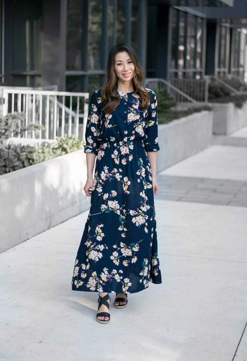 OOTD Summer streetstyle with floral maxi dress