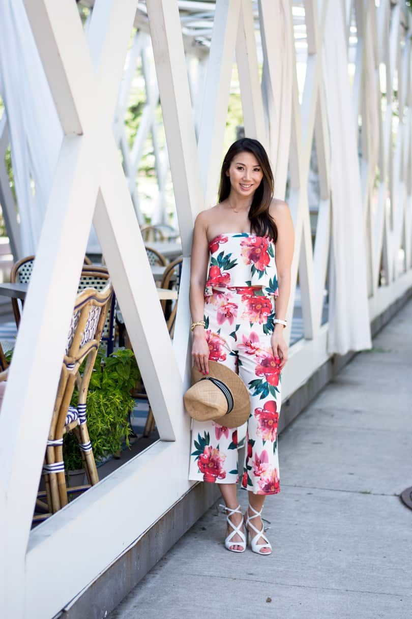 Summer Street Style: co-ord set with floral top and culottes from Boohoo x Stella Hudgens