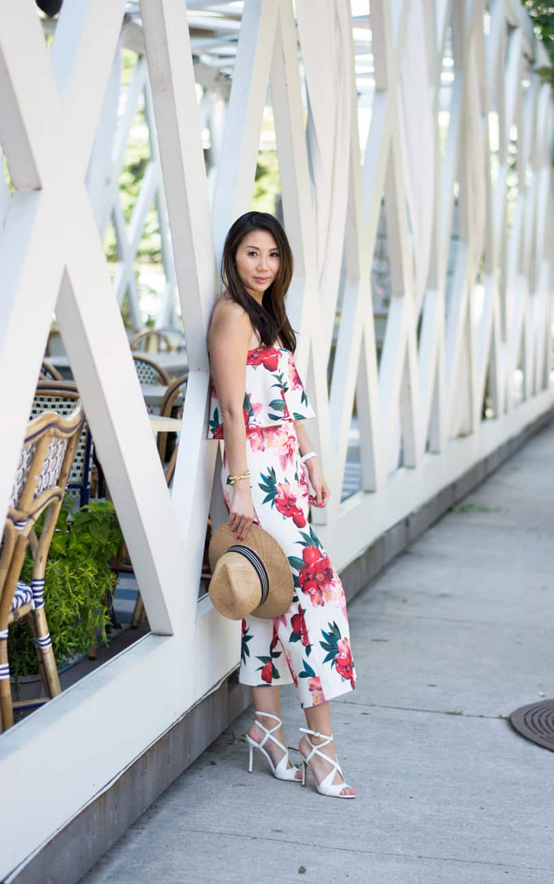 Summer Style: two piece outfit with culotte and crop top set from Boohoo x Stella Hudgens