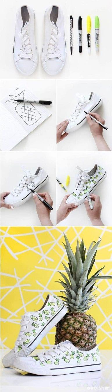 Update your sneakers with a fun pineapple print!
