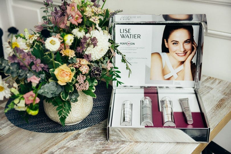Lise Watier Target Perfexion Collection with cosmetic drones