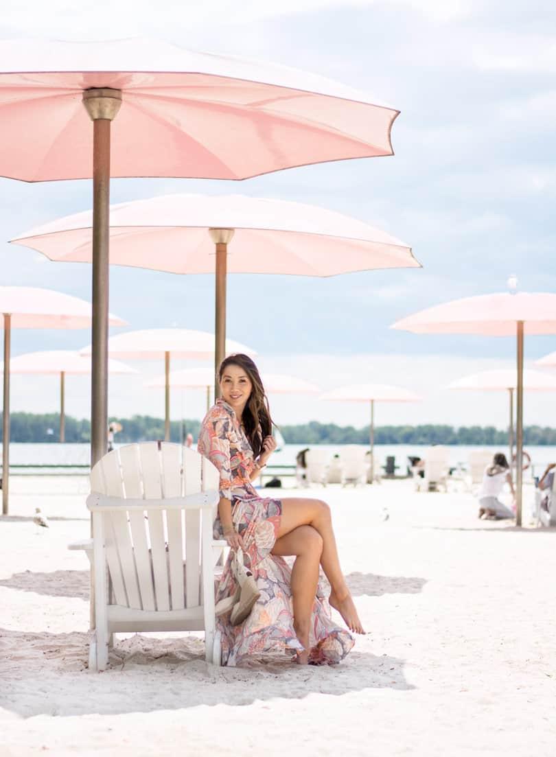 Summer daydreams: long floral beach dress