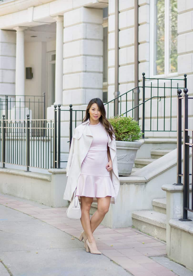 Canadian fashion blogger YesMissy in Lark & Ro and Aritzia