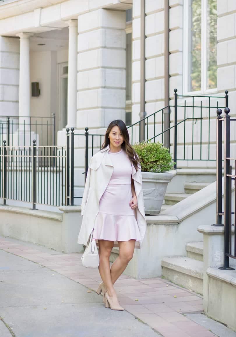 Canadian fashion blogger YesMissy in Lark & Ro and Aritzia
