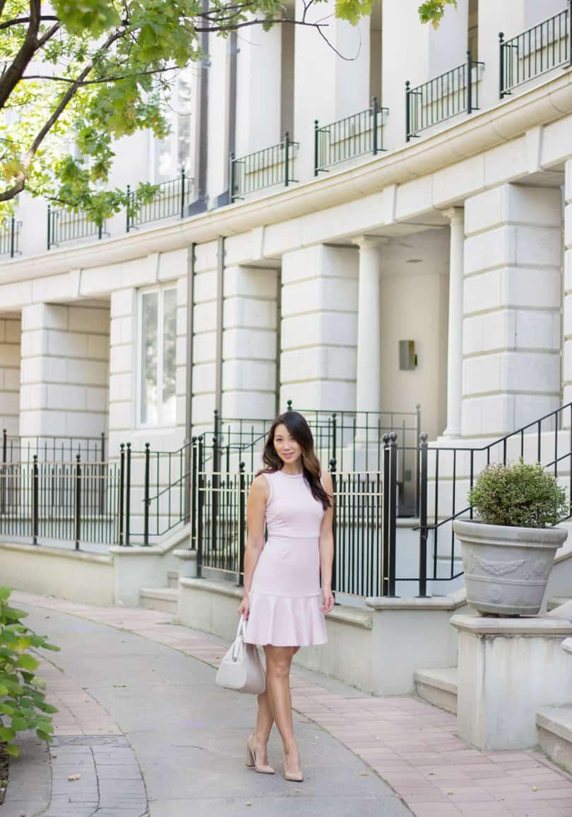 Such a pretty pink dress, you won't believe where I got it!