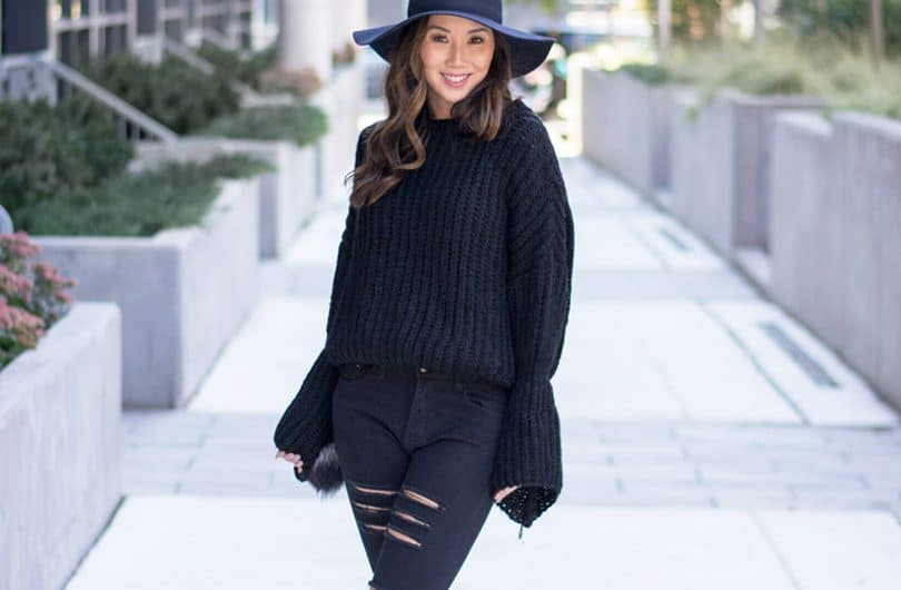 Loving the bell sleeve trend, this sweater is so cosy and cute and just $21!!
