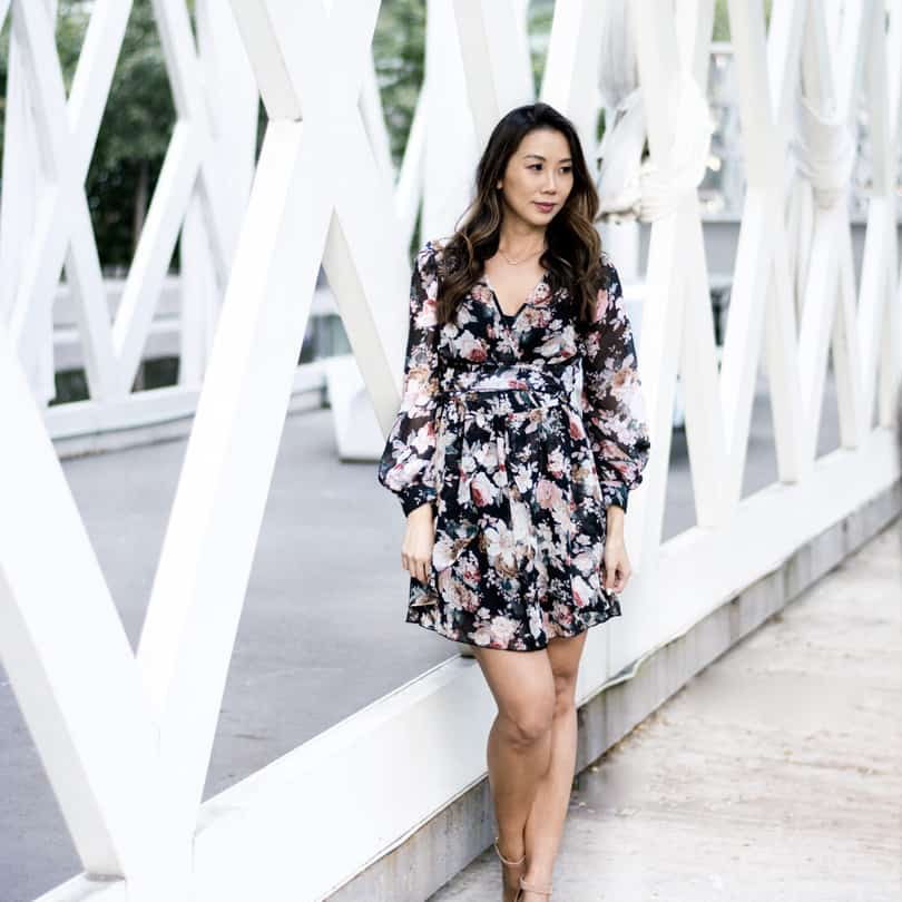 How to wear floral prints in fall and winter