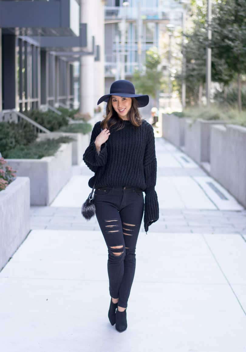 This cozy bell sleeve sweater was just $21!! Such a great find, you won't guess where from!