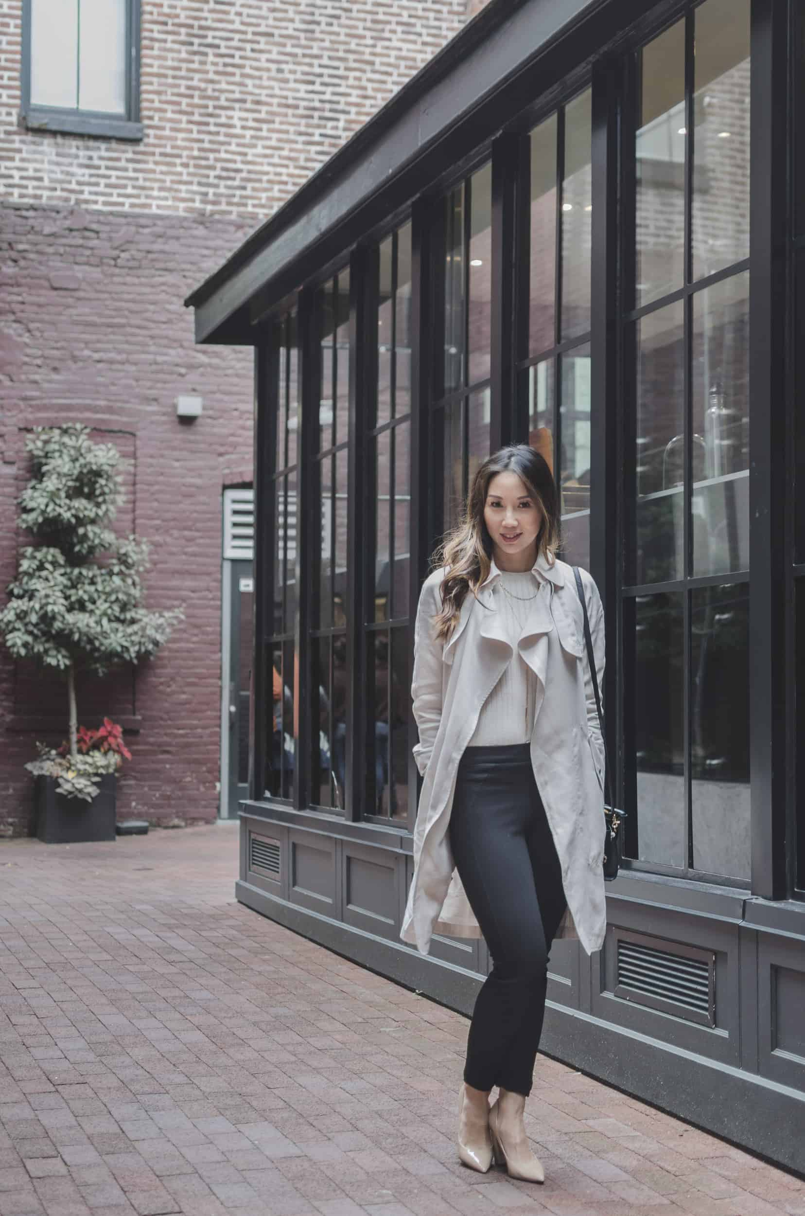 Travel Diary - Gastown Vancouver. fashion and lifestyle blogger wearing Aritzia trench, Zara pants and Marciano Shoes