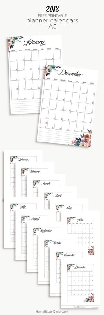 Free calendar printable... Love how this one has space to stuff in on days...