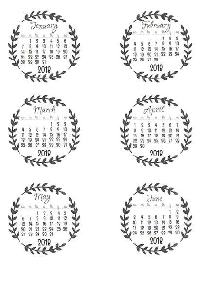 Love this whimsical calendar with leafy details, free to download and print!