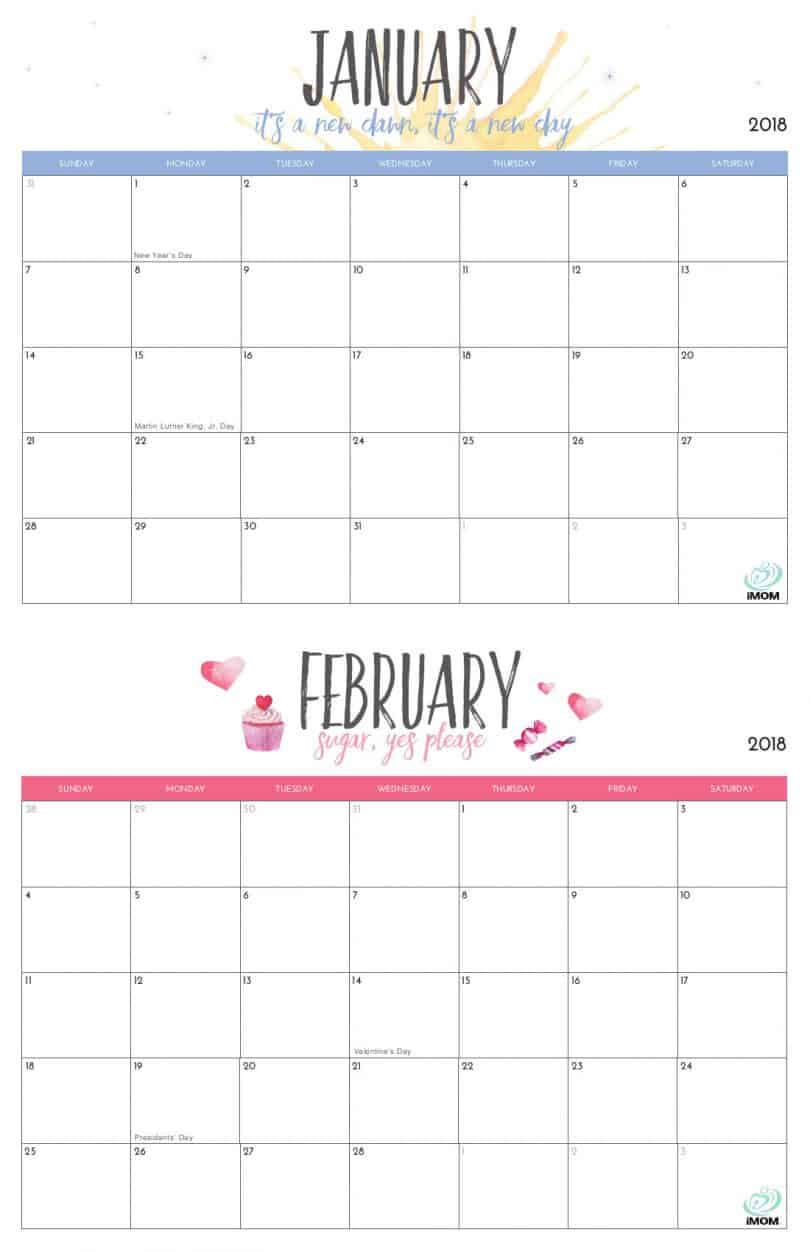 printable calendars for moms
