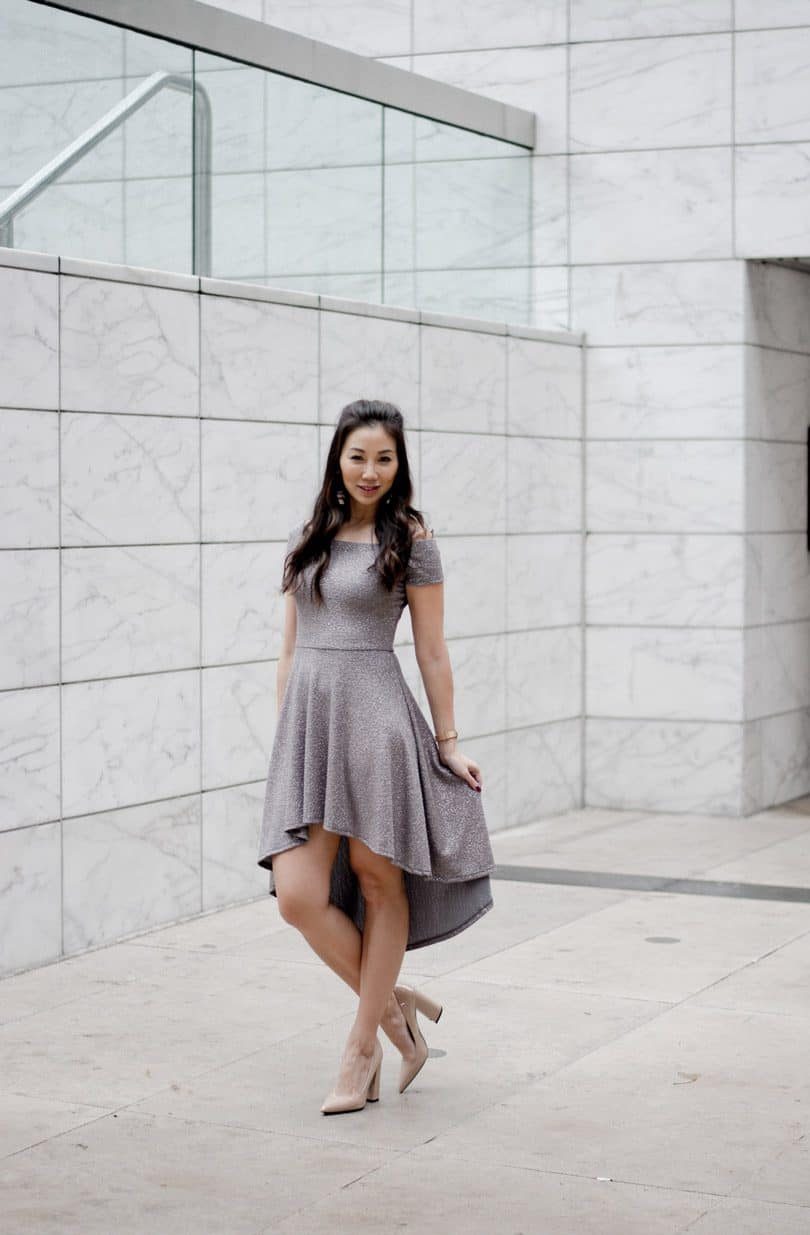 Fun silver party dress for special occasions
