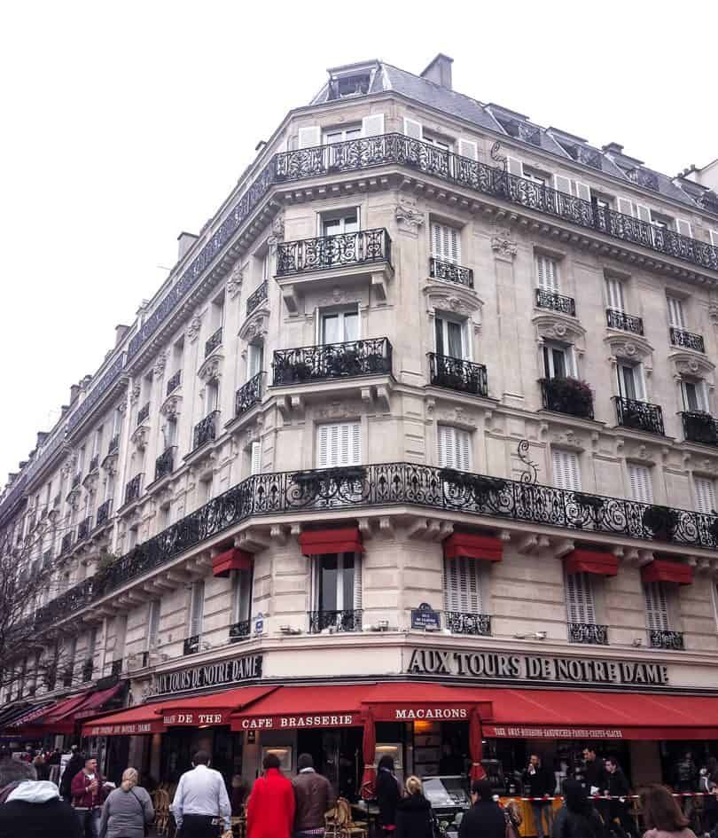 The Notre Dame cafe in paris from travel diaries for YesMissy