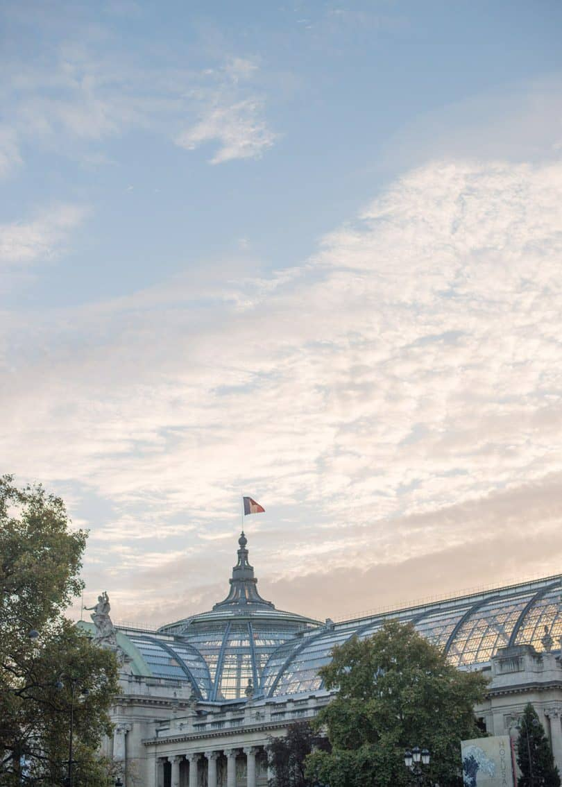 Watching the sunrise over Grand Palais in Paris