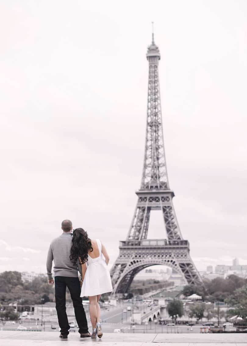 Paris is the romantic city in the world, we had our engagement shoot there and it was the perfect setting.