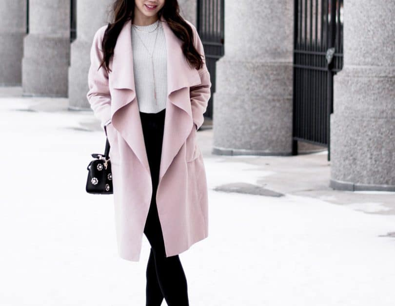 Pink waterfall coat - Toronto fashion blogger - YesMissy